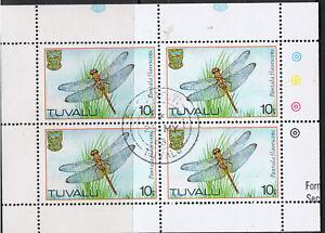 TUVALU 1983 DRAGONFLIES - BLOCKS OF 4