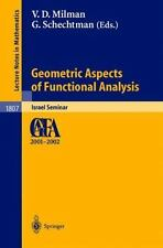 Geometric Aspects of Functional Analysis: Israel Seminar 2001-2002 (Le-ExLibrary