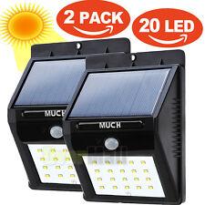 Lampe de jardin Eclairage solaire Applique murale Imperméable 2X 20LEDs lampes