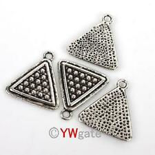 30pcs Alloy Tibetan Silver triangle shape Charm Pendants Findings 19x18mm