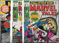 Marvel Tales #24, #27 & #31   Lot of 3 (1970, Marvel Comics)