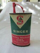 Vintage Singer Sewing Machine Oil Tin