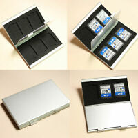 Metal Aluminum Micro SD TF MMC Memory Card Storage Protecter BN Case Holder F9A6