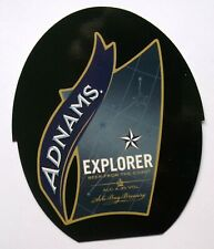 Beer Pump Clip Badge Insert Explorer Beer from the coast Adnams PB100