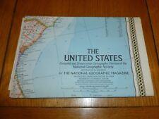 Gli STATI UNITI-NATIONAL gegraphic Mappa-ATLAS piatto? - FEB 1968