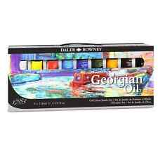 Daler Rowney Paint Set Georgian Oil Jumbo Set 9 x 120ml Tubes Oil Paints