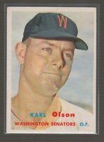(15451) 1957 TOPPS BASEBALL KARL OLSON #153