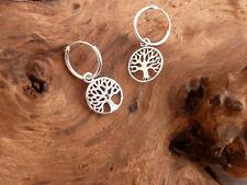 Ohrringe Creolen 925 Silber Lebensbaum Baum des Lebens Ohrhänger NEU