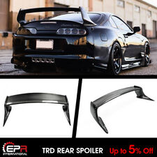 For Toyota MK4 Supra TRD1 Style Carbon Fiber Black Rear Trunk Spoiler Wing Lip