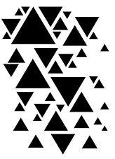 Triangles Stencil - VARIOUS SIZES - A4/A5/ A6