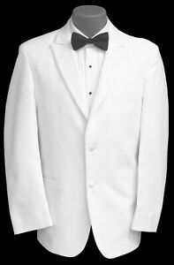 Mens White Perry Ellis Tuxedo Jacket Dinner Wedding Mason Prom Cruise 40S
