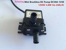 12V Portable Micro DC Water Pump DC30A-1230 NEW 4.5W Good Efficiency Low Noise