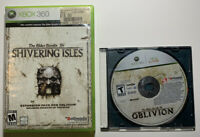 The Elder Scrolls IV Oblivion + Shivering Isles - Xbox 360 Lot of 2