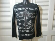 MMA Elite Black Graphic Waffle Knit Shirt Men's L