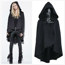Punk-Rave PY-163 Punk Personality Irregular Cloak Style Long Jacket with Hooded