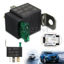 DC 12V 30A 4 Pin 4P Metal Heavy Duty Car Motor Automotive Fuse Fused Relay SPST