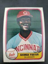 1981 Fleer #202 GEORGE FOSTER Cincinnati Reds COMB SHIP