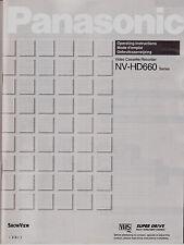""" Panasonic NV-HD 660  ( NL & F ) - Mode d'emploi / gebruiksaanwijzing - VQT6573"