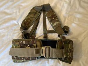 Mtp Multicam Molle Webbing Battlebelt And Under Armour Yoke With roll-pin Belt