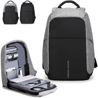 "Men's Water Resistant Business Backpack Rucksack Charging Port 15.6"" Laptop bag"
