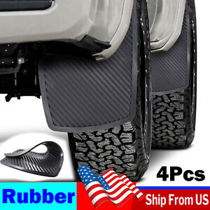 4X Rubber Universal Mud Flaps Splash Guards Mudguards Front Rear Racing Rally