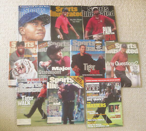 1996-2003--SPORTS ILLUSTRATED--TIGER WOODS ON COVERS--LOT OF TEN (10)--XLNT