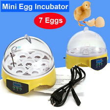 Mini Digital Eggs Incubator For Hatching 7 Eggs Chicken Duck Reptile AC 220V