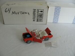 Franklin Mint 1/24 Scale Die-Cast Red 1964 1/2 Ford Mustang Convertible EX