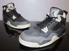 5971357c18f067 Nike Air Jordan Retro 4 IV FEAR PACK Blk Wht Plat Grey 626969-