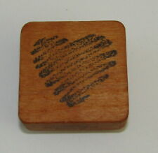 "Heart Rubber Stamp Scribble Comotion Wood Mounted 1.75"" High"