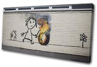 Banksy Graffiti School Street Art Urban SINGLE CANVAS WALL ART Picture Print