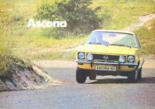 Opel Ascona A 16S 19S 1900 SR Saloon Voyage 1973-75 Original UK Sales Brochure