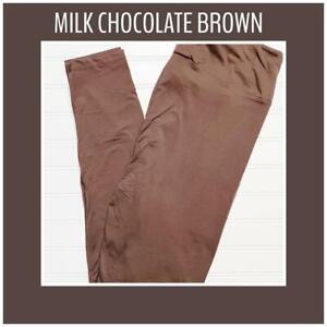LuLaRoe TC2 Solid Milk Chocolate Brown Leggings New