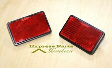 2) Red Rear Reflectors For Motorcycles, Atv, Bikes And Dirt Bikes, Bicycles. Usa