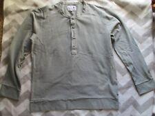 BNWOT Wolsey grey men's long sleeved men's cotton polo top. Size XL