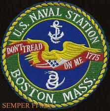 US NAVAL STATION BOSTON MA NS PATCH NAVAL YARD USS SHIPYARD PIN UP GIFT WOW
