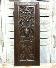 16 th renaissance woman portrait panel Antique french oak architectural salvage