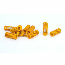 8mm OD 20mm Long Light Load Stamping Compression Mould Die Spring Yellow 10pcs