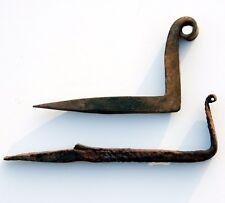 ORIGINAL geschmiedete Wandhaken um 1870 - Mauerhaken - Maueranker