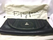 Fossil Fifty Four Black Leather Julianne Clutch Purse with Dust Bag - Nice!