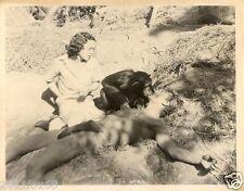 cinema cita jane lex barker tarzan fotografia originale 26x20 anni 50 photo rare