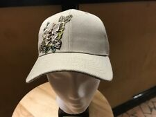 NEW  Women's Tan Flower Heart Hook & Loop Adjustable Baseball Cap