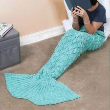 Mermaid Tail Blanket Knit Afghan Throw Personal Fantasy Blanket