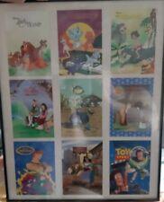 Cadre avec photos de 9 films divers Disney très rare décoration collection