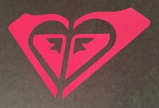"Roxy Quiksilver Surfing Logo ~ vinyl window laptop decal bumper sticker Pink 8"""