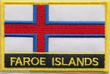 Denmark Faroe Islands Flag Embroidered Patch Badge - Sew or Iron on