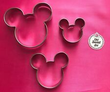 MICKEY MINNIE  MOUSE CUTTER SET X 3   Cutter Pastry Disney Fondant Cake