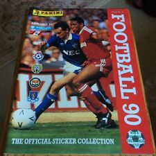 Panini Football 90 official sticker collection - FAB CONDITION +original poster!