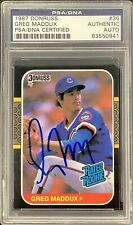 Greg Maddux Signed 1987 Donruss Rated Rookie Card RC #36 Cubs Autograph PSA/DNA