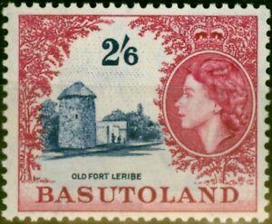 Basutoland 1954 2s6d Deep Ultramarine & Crimson SG51 Fine MNH